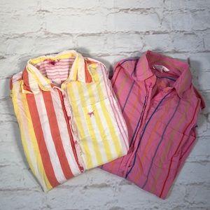 Victoria's Secret Pink pajama tops! Size Small.
